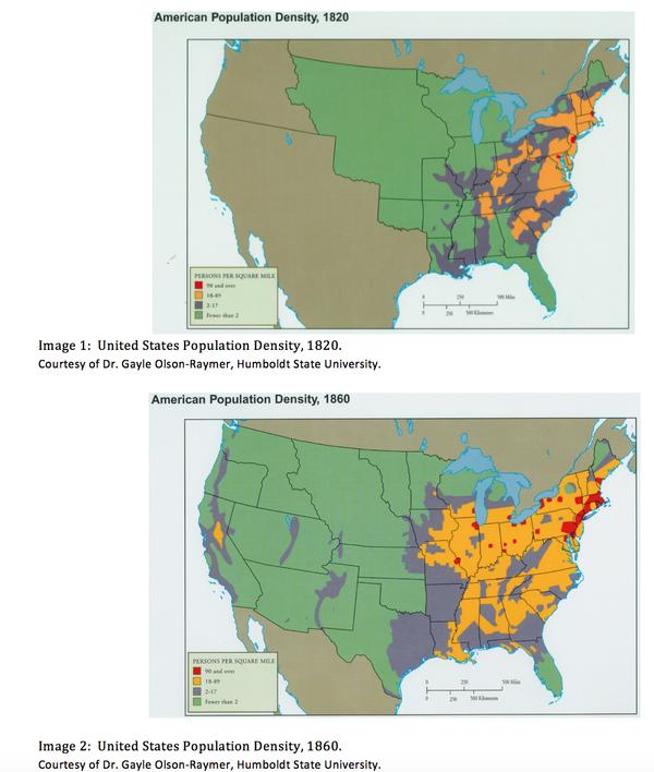 Us Population Map 1820 Shapiro, Mr. / Unit 8 Manifest Destiny