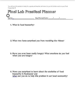 Food Lab Final Planner pkt
