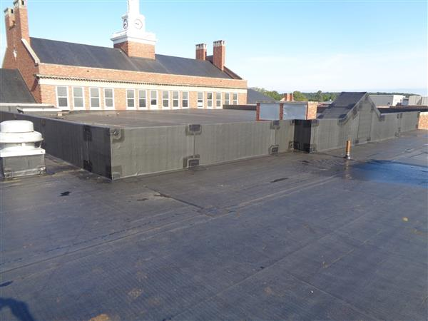Roof repairs were done at Brighton High School.