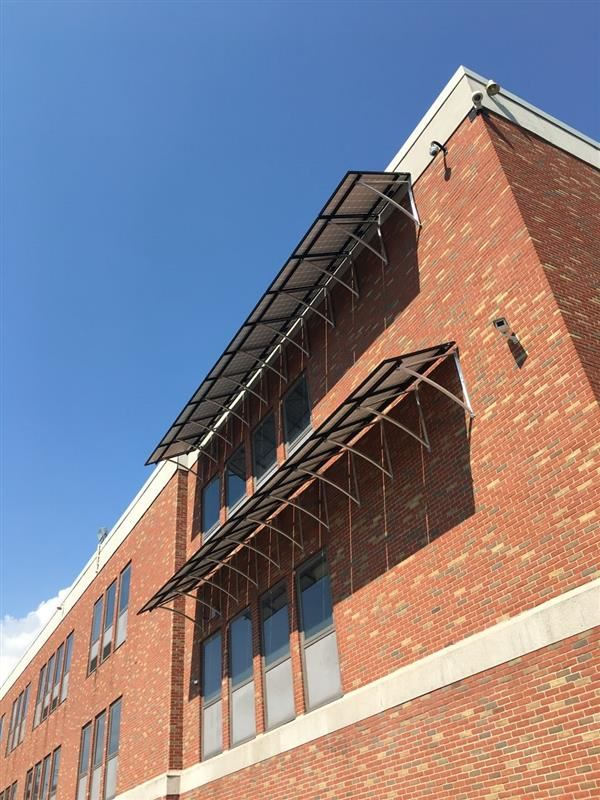 A new solar array was added on the side of Brighton High School.