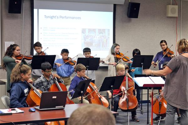 Musical performance on Board of Education Recognition Night