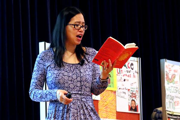 Grace Lin reads from her book