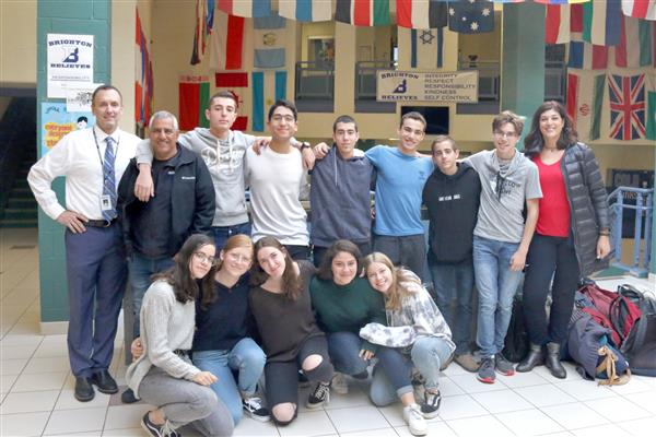 Israeli exchange students visited TCMS during their time in Brighton.