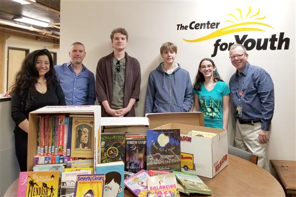 BHS Book Club and Music Production Club Make Donations to Center for Youth.