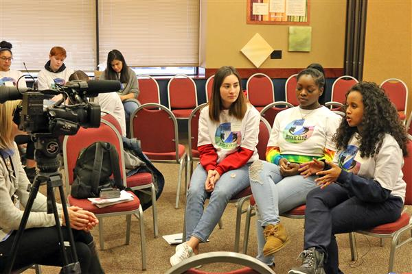 Mosaic Club Members interviewed by News 13
